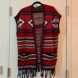 Oversized Tribal Knit Vest